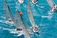 Sailboats in Acura Miami Grand Prix, Miami, Florida Fine-Art Print
