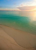 Elevated View of Beach at Sunset, Great Exuma Island, Bahamas Fine-Art Print