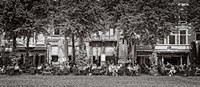 People at Sidewalk Cafe, The Hague, Netherlands Fine-Art Print