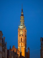 Low Angle View of Clock Tower, Gdansk, Poland Fine-Art Print