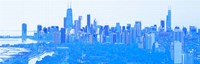 Skyline of Chicago in Blue Fine-Art Print