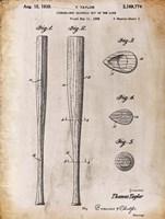 Baseball Bat 2 White Patent Fine-Art Print