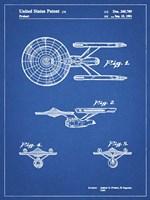 Blueprint Starship Enterprise Patent Fine-Art Print