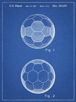 Blueprint Leather Soccer Ball Patent Fine-Art Print