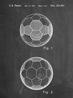 Chalkboard Leather Soccer Ball Patent Fine-Art Print