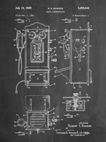Chalkboard Wall Phone Patent Fine-Art Print
