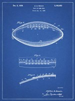Blueprint Football Game Ball Patent Fine-Art Print