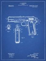 Blueprint Colt 1911 Semi-Automatic Pistol Patent Fine-Art Print