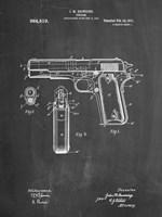 Chalkboard Colt 1911 Semi-Automatic Pistol Patent Fine-Art Print