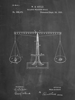 Chalkboard Scales of Justice Patent Fine-Art Print