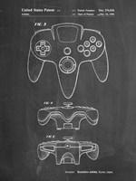 Chalkboard Nintendo 64 Controller Patent Fine-Art Print