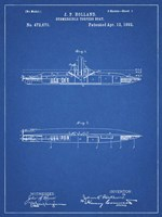 Blueprint Holland Submarine Patent Fine-Art Print