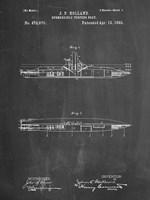 Chalkboard Holland Submarine Patent Fine-Art Print