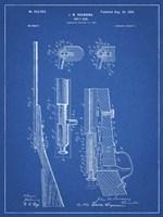 Blueprint Browning Bolt Action Gun Patent Fine-Art Print