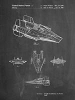 Chalkboard Star Wars RZ-1 A Wing Starfighter Patent Fine-Art Print