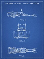 Blueprint Star Wars Speeder Bike Patent Fine-Art Print
