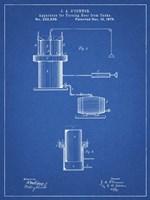 Blueprint Antique Beer Cask Diagram Patent Fine-Art Print
