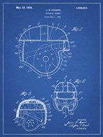 Blueprint Football Helmet 1925 Patent Fine-Art Print