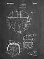 Chalkboard Football Helmet 1925 Patent Fine-Art Print