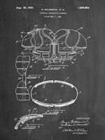 Chalkboard Football Shoulder Pads 1925 Patent Fine-Art Print