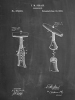 Chalkboard Corkscrew 1883 Patent Fine-Art Print