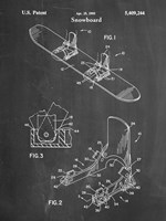 Chalkboard Burton Baseless Binding 1995 Snowboard Patent Fine-Art Print