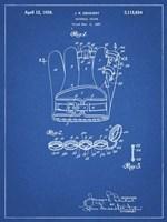Blueprint Denkert Baseball Glove Patent Fine-Art Print