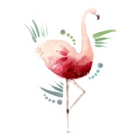 Tropical Icons Flamingo Fine-Art Print