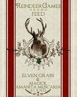 Reindeer Feedsack Fine-Art Print