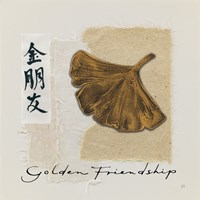 Bronze Leaf I Golden Friendship Fine-Art Print