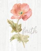 Garden Poppy on Wood Faith Fine-Art Print