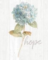 Garden Hydrangea on Wood Hope Fine-Art Print