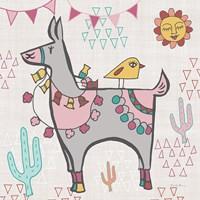 Playful Llamas II Fine-Art Print