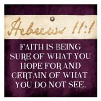 Faith Is Being Purple Fine-Art Print