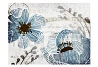Soft Floral Blue 3 Fine-Art Print