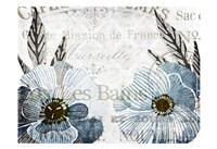 Soft Floral Blue 4 Fine-Art Print