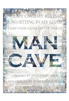 Man Cave Rules Fine-Art Print