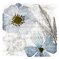 Soft Floral Blue 2 Fine-Art Print