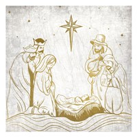 Nativity Gold Fine-Art Print