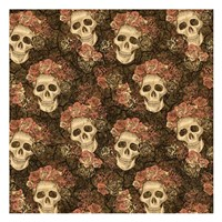 Skeletons and Roses Fine-Art Print