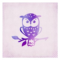 Purple Pink Owl 1 Fine-Art Print