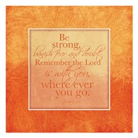 Orange Religious Fine-Art Print