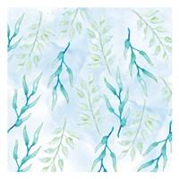 Blue Floral Pattern 1 Fine-Art Print
