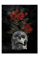 Skull Red Flowers Fine-Art Print