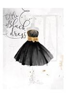 Little Black Gold Dress Fine-Art Print