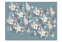 Folksy Flora Grey Floral Scatter Fine-Art Print