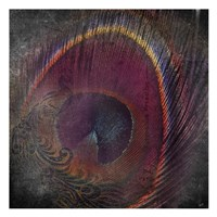 Peacock Distressed Fine-Art Print