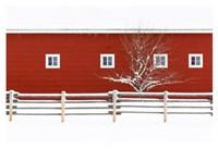Red Bitterroot Barn Fine-Art Print