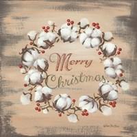 Cotton Wreath Holiday Fine-Art Print