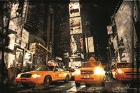 Times Square Taxis Fine-Art Print